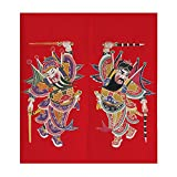 Cheap Lifeast Japanese Noren Door Curtain Chinese Door-god Bedroom Doorway Door and Window Treatment Curtain (Red)
