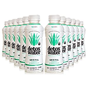 detoxwater™ Bioactive Aloe Water Original Lychee & White Grape 16 Fluid Ounces, Pack of 12
