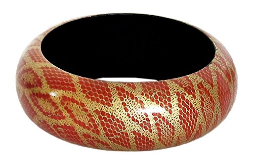 DollsofIndia Snake Skin - Wood - Red Women at amazon