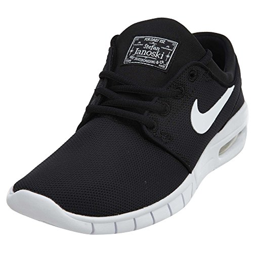 Nike Kids Stefan Janoski Max (GS) Black/White Skate Shoe 6.5 Kids US (Kids Stefan Janoski)