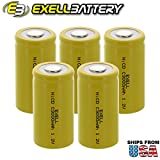 #7: 5x Exell C Size 1.2V 3000mAh NiCD Flat Top Rechargeable Batteries for meters, radios, hybrid automobiles, high power static applications (Telecoms, UPS and Smart grid), radio controlled devices