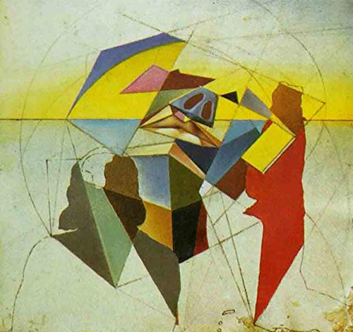 (Neron Art Salvador Dali Untitled Stereoscopic Painting - Original Abstract Canvas Paintings Hand Painted Reproduction Rolled - 120X115 cm (Approx. 48X46 inch) for Wall Decoration)