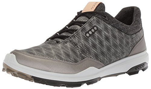 ECCO Men's Biom Hybrid 3 Gore-Tex Golf Shoe, Black/Buffed Silver, 42 M EU (8-8.5 US)