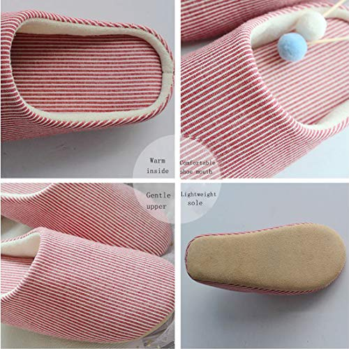 Casual Bottom Japanese Slippers Women Cotton amp;KATE Indoor Soft Style Slipper Slippers WILLIAM Red Couple I0vwq