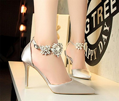 Satins Tacn 37 Wedding De Bride Skechers Prom O Dress Alto Personalizable gray Road Shoes Party Multicolor Crystal Women Flat eu38 40 Lucky Tama Sandalias UtqnWY7FpC