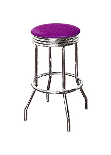 The Furniture Cove 29 Specialty Chrome Barstools 1 Stool Purple Glitter Vinyl