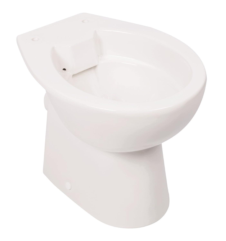 Stand wc spülrandlos inklusive wc sitz tiefspüler abgang waagerecht weiß toilette spülrandloses wc klo toilettensitz stand wc design