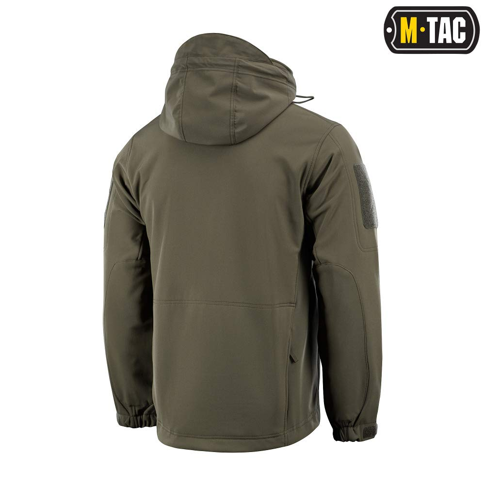 M-Tac Tactical Jacket Men Soft Shell Hooded Waterproof Fleece Lined Coat