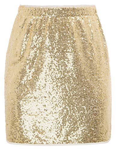 GRACE KARIN Womens Night Out Sequin Mini Pencil Skirt Party Cocktail