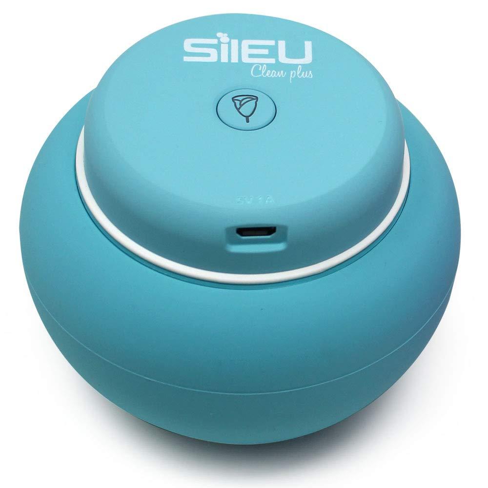 Esterilizador El/éctrico Recargable USB Compacto para Copas Menstruales Azul L/ámpara de Cuarzo UV y Ozono Sileu Clean Plus