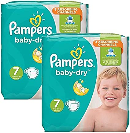 Couches Pampers Taille 7 baby dry 58 couches b/éb/é