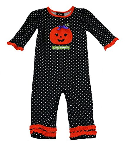Okie Dokie Baby Girls' Little Pumpkin Romper (6 Months)