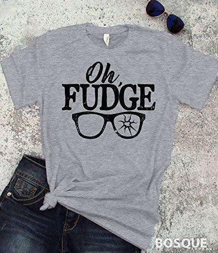 Christmas Story Inspired Oh Fudge quote T-Shirt/Adult T-shirt Top Tee design - Ink - Fudge Apparel