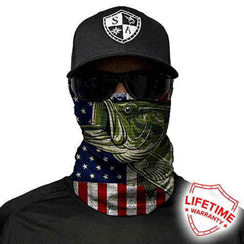 Salt Armour Face Mask Shield Protective Balaclava Bandana Microfiber Tube Neck Warmer. - USA Bass