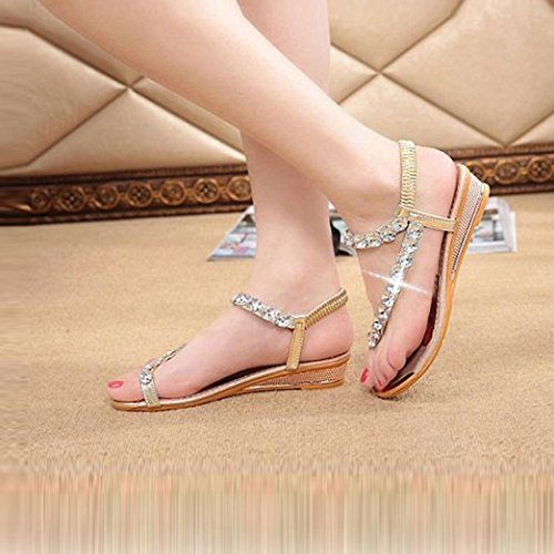 12719d11b29f Fullkang Woman Summer Bling Rhinestone Flats Wedges Flip Flops Sandals hot  sale 2017