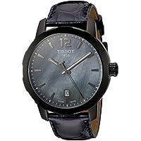 Tissot Quartz Stainless Steel Dress Watch, Color:Black (Model: T0954103612700)