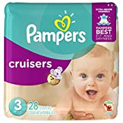 Pampers Cruisers Disposable Diapers Size 3, 28 Count, JUMBO