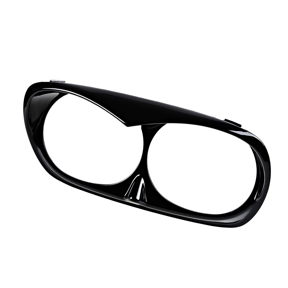 Astra Depot Glossy Black Headlight Bezel Scowl Outer Fairing for Bad Boy Harley Road Glide 1998-2013