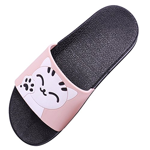 SITAILE Athletic Indoor Sandals Cute Womens Pink Slip Slides Lucky Outdoor Sport Slippers Cat on Slide rZrxqg