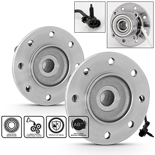 Price comparison product image For Chevy GMC K1500 K2500 K3500 Suburban Pair of 2 515041 Front Wheel Hub & Bearings Assembly+ABS Sensor