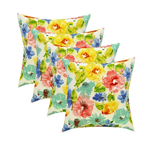 RSH Décor Set of 4 Indoor/Outdoor Square Throw pillows (17