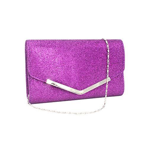 XLnuln Fashion Shoulder Bags Women Party Crossbody Bags Envelope Wristlet Clutch Crossbody Bag with Chain ()