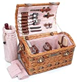 Picnic Beyond Wicker Picnic Basket for 2 PB1-3382B 20pcs Honey Color