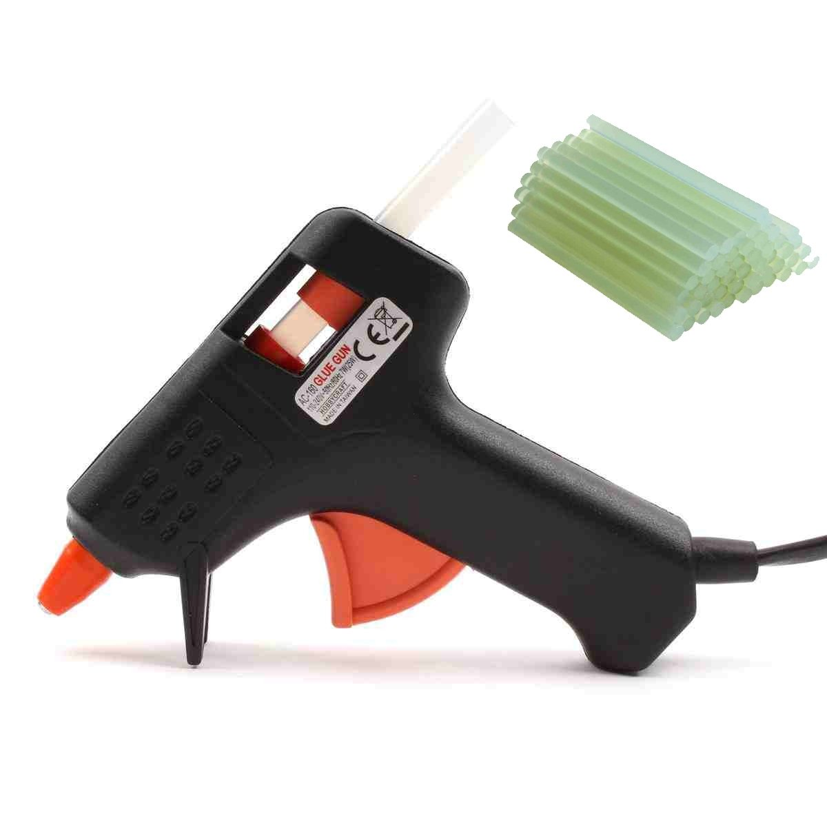 Electric Glue gun with glue sticks | 50 glue sticks included! by RIVENBERT