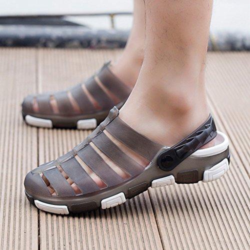Hishoes , Sandales Compensées homme - gris - gris,