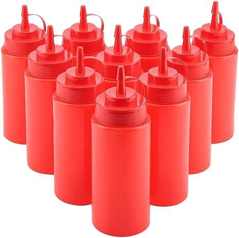 Plastic Cruet Mustard Salad Sauce Squeeze Bottle Oil Dispenser Ketchup Jar