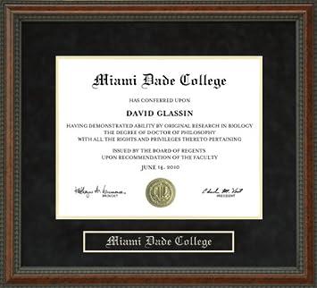 com miami dade college mdc diploma frame burl  miami dade college mdc diploma frame burl