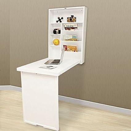 Plegable Escritorio de pared Mesa de portátil/ordenador Dormitorio infantil Utensilios Almacenamiento