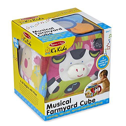 51lsdAhPEKL - Melissa & Doug K's Kids Musical Farmyard Cube Educational Baby Toy
