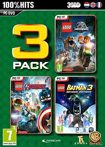 Lego 3 Pack Vol. 3 : Jurassic World / Marvel Avengers / Batman 3 (PC DVD) UK IMPORT