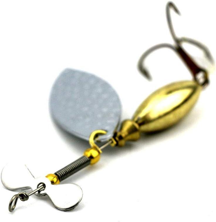 Adoolla 5Pcs//Set Sinking Spinner Spoon Bait Fishing Lure 9.8cm//15g Artificial Hard Bait for Fish