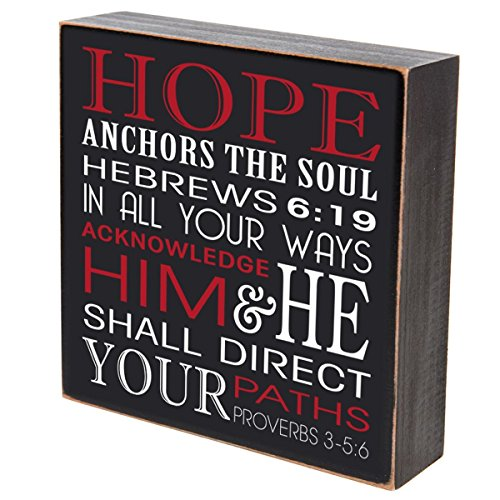 Hope Anchors The Soul In All Your Ways Acknowledge Him wedding anniversary gift for couple, housewarming gift ideas for Mr. and Mrs. shadow box by DaySpring Milestones 6