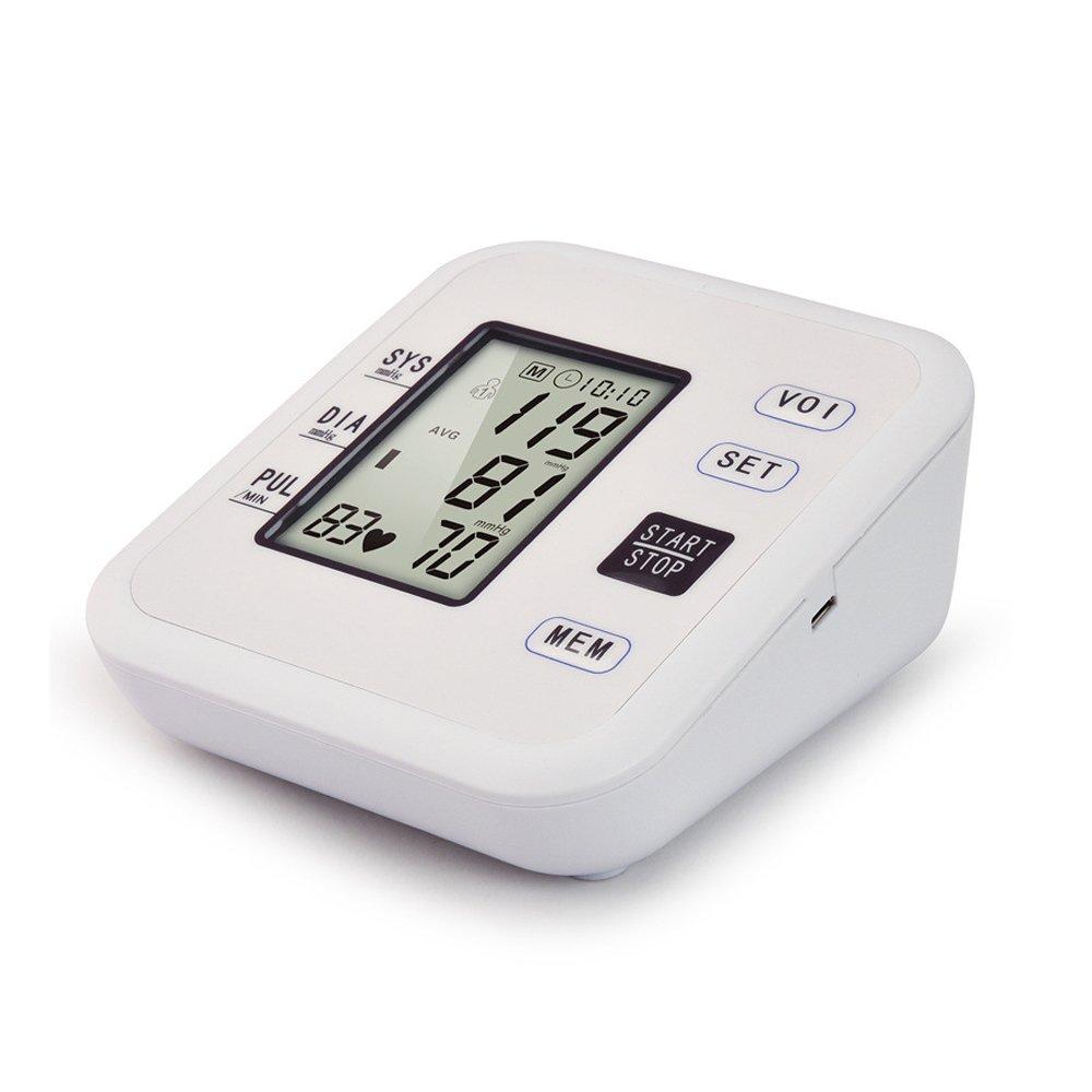 Vinteky ® Inteligente Tensiómetro Digital de Brazo, Monitor del Ritmo Cardíaco, Indicador IHB Y WHO, Pantalla LCD Retroiluminación, Alerta con Colores los ...
