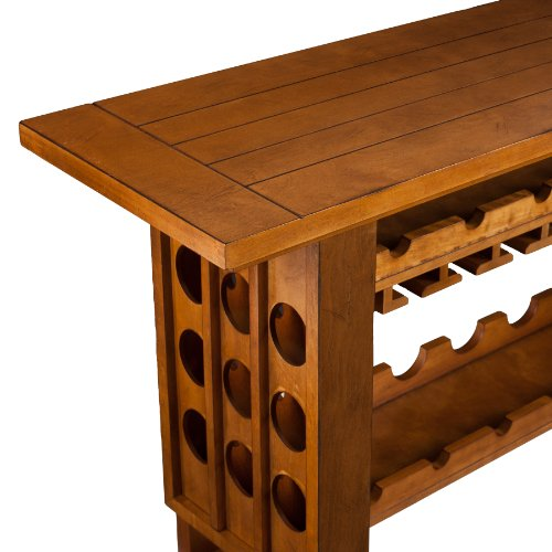 Southern Enterprises Hudson Riddling Wine Rack Console Table