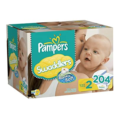Pampers Swaddlers, 204 Count