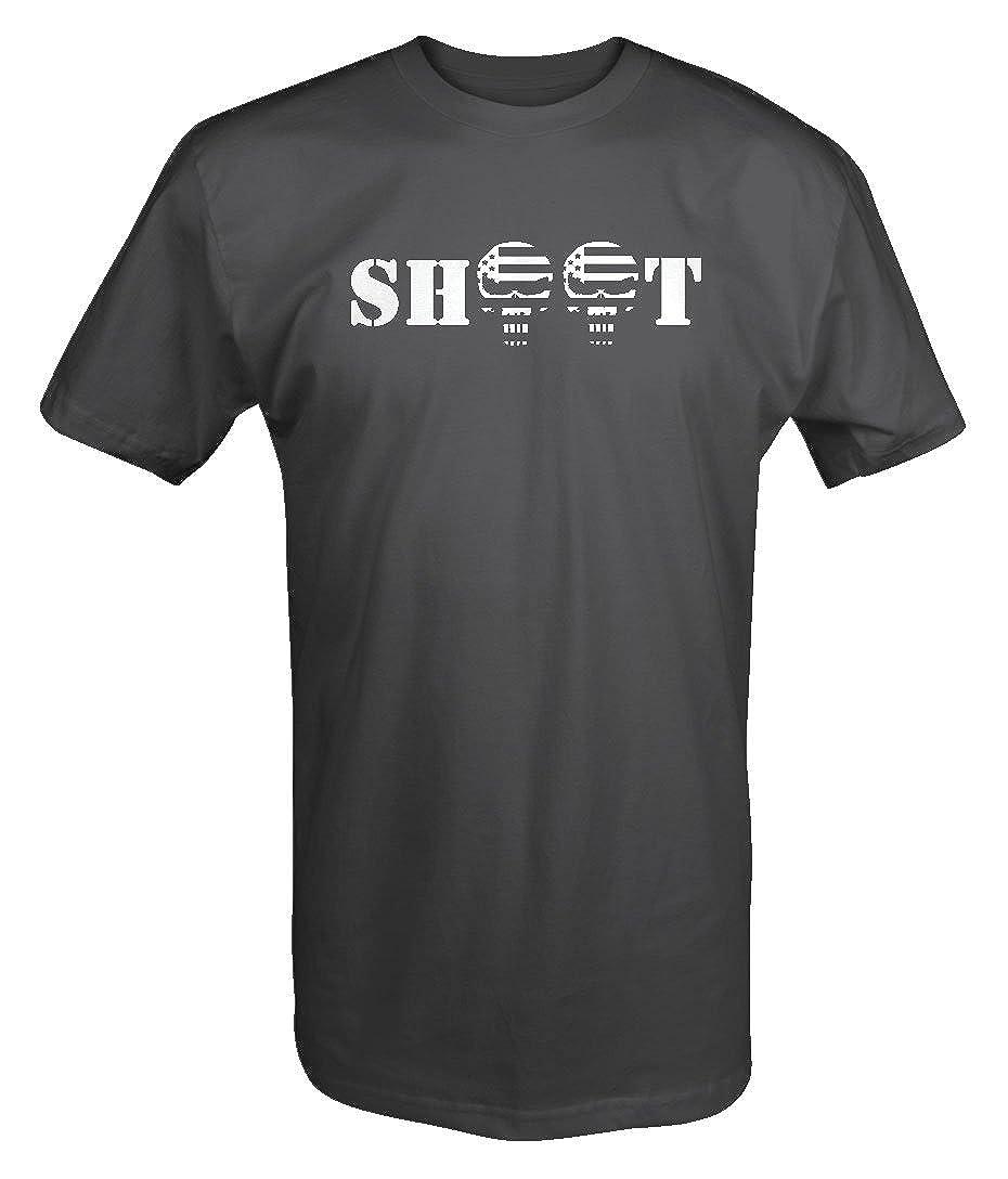 Shoot Punisher Us Flag Skull - Military Police T Shirt