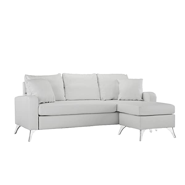 Top Rated White Leather Sectional Sofa