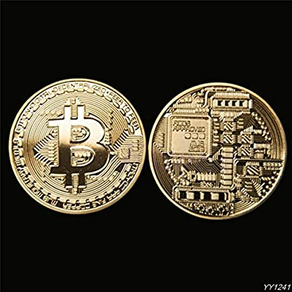Non-currency Coins - 1 X Gold Plated Bitcoin Coin