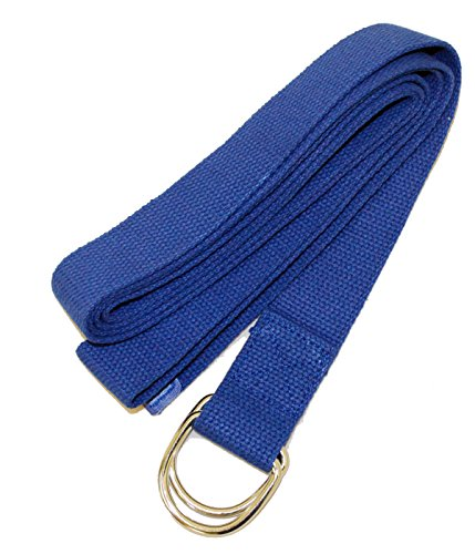 YogaAccessories 6' D-Ring Buckle Cotton Yoga Strap - Blue
