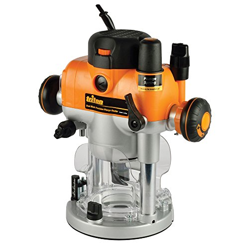 Triton TRA001 3-1/4 HP Dual Mode Precision Plunge Router (Safety Cut Speed Router)