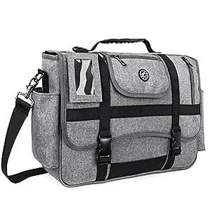 CoolBELL Messenger Bag 15.6 Inch Laptop Shoulder bag Laptop Case Sport Handbag Business Briefcase Multi-functional Travel Bag For Men / Women (Grey)
