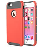 iPhone 6 Plus Case (5.5 inch),Keetech[Slim Hybrid Dual Layer] Heavy Duty Case Cover for Apple iPhone 6 Plus and iPhone 6s Plus 5.5 inch (Neon Red-Gray)