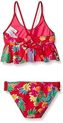 Hobie Girls' Tropical Locals Floral Sets Bikini Swim Bralette and Hipster
