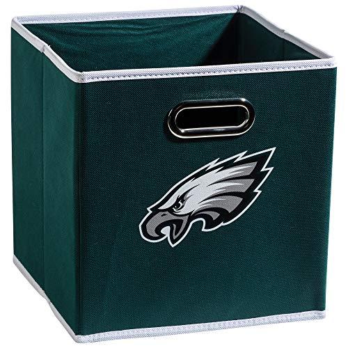 Franklin Sports NFL Philadelphia Eagles Fabric Storage Cubes - Made To Fit Storage Bin Organizers (11x10.5x10.5