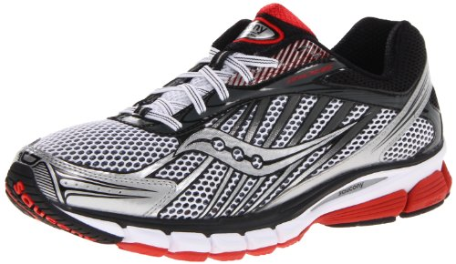 Saucony Men's Ride 6 Running Shoe,White/Red/Black,12 M US