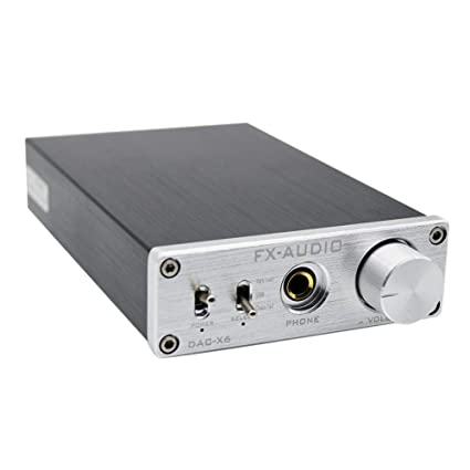 JUNERAIN FX-Audio DAC-X6 HiFi óptico USB coaxial Amplificador de Audio Digital decodificador